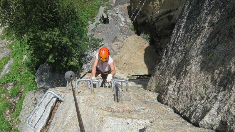 Klettersteig La Resgia : Klettersteig la resgia ou via ferrata de à pontresina
